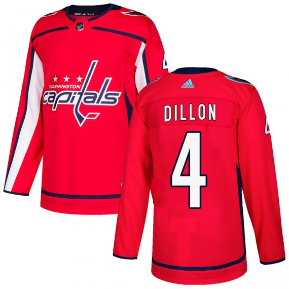 Washington Capitals Brenden Dillon Official Red Adidas Authentic Adult ized Home NHL Hockey Jersey