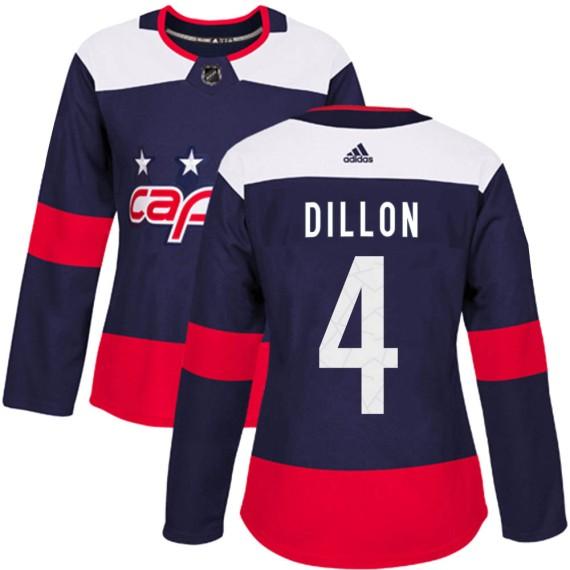 Washington Capitals Brenden Dillon Official Navy Blue Adidas Authentic Women's ized 2018 Stadium Series NHL Hockey Jersey