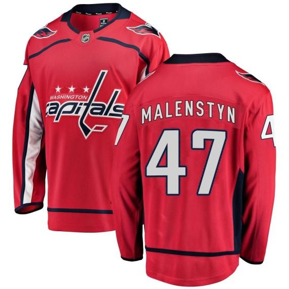 Washington Capitals Beck Malenstyn Official Red Fanatics Branded Breakaway Adult ized Home NHL Hockey Jersey